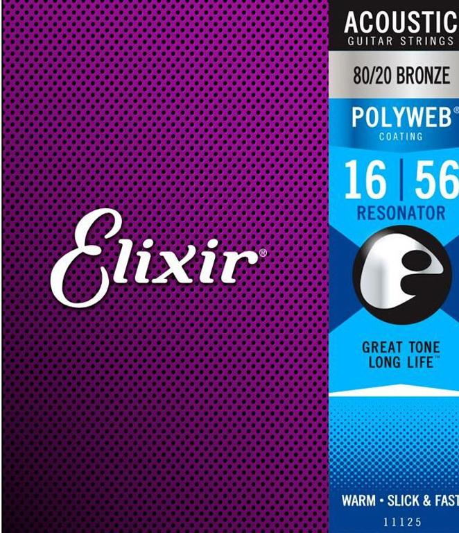 Elixir E11125 Resonator Set Polyweb 016-056