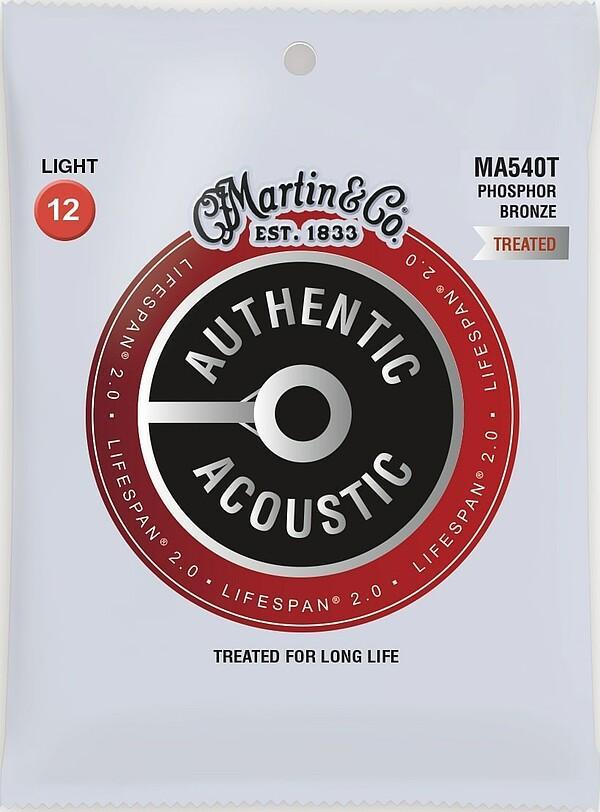 Martin Authentic Acoustic LIFESPAN® 2.0 MA540T 12-54 92/8 Phosphor Bronze