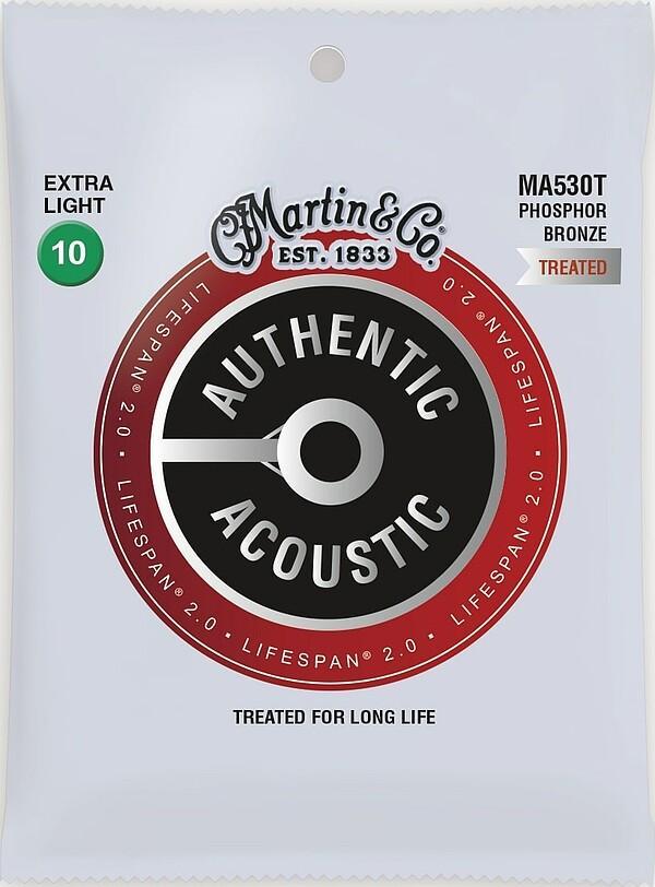 Martin Authentic Acoustic LIFESPAN® 2.0 MA530T 10-47 92/8 Phosphor Bronze