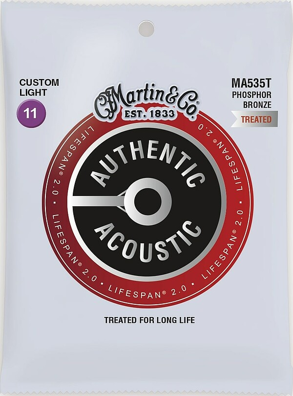 Martin Authentic Acoustic LIFESPAN® 2.0 MA535T 11-52 92/8 Phosphor Bronze