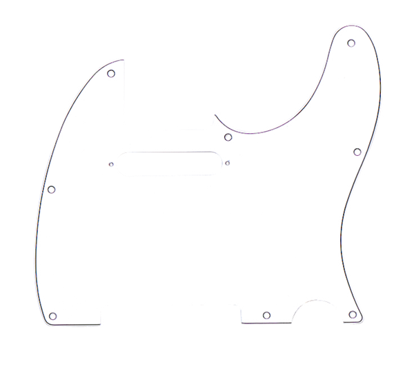 Fender Pickguard Telecaster® 8-Hole Mount, White, 3-Ply
