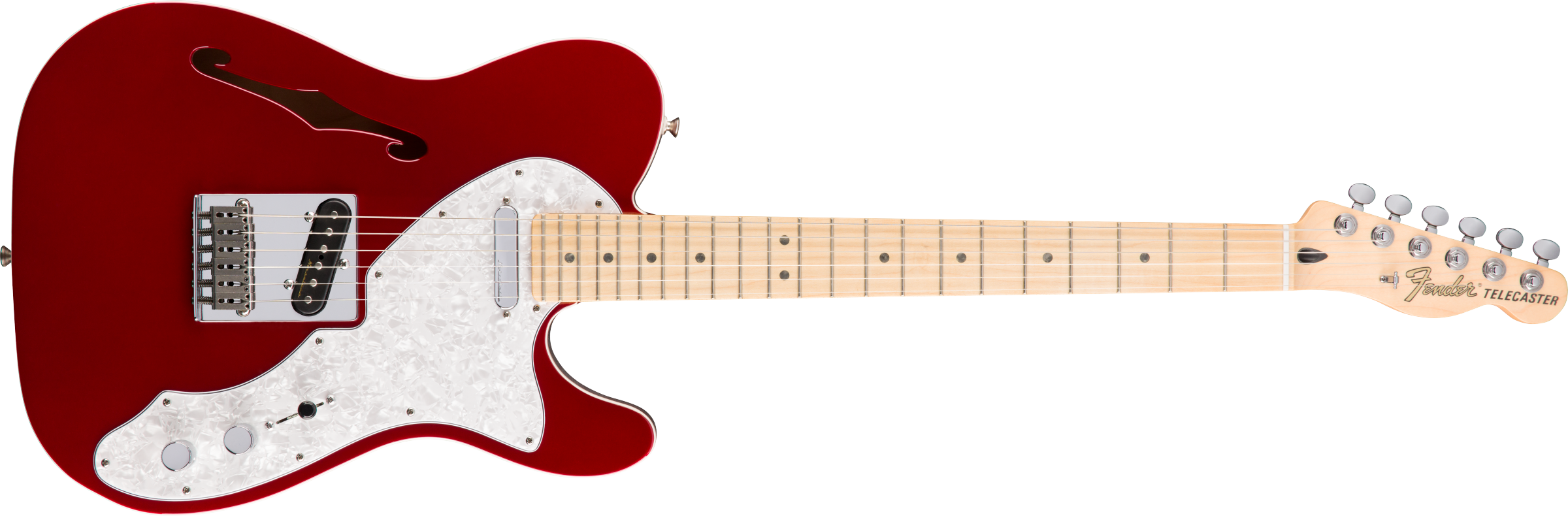 Fender Deluxe Telecaster® Thinline Maple Fingerboard Candy Apple Red