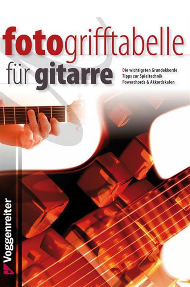 Fotogrifftabelle für Gitarre