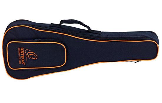 Ortega OUBSTD TE - Schwarz-Orange Tasche für Ukulele (Tenor-Größe)