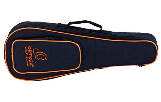 Ortega OUBSTD SO - Schwarz-Orange Tasche für Ukulele (Sopran-Größe)