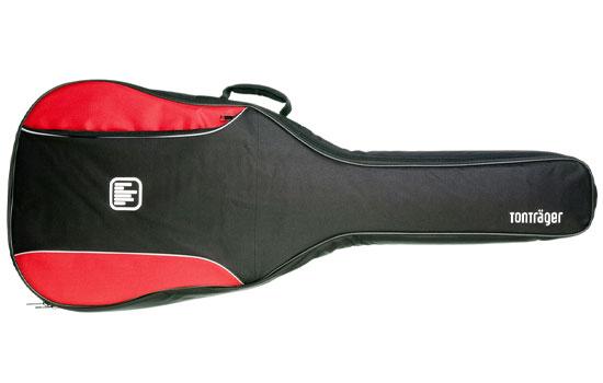 Tonträger - Rote Tasche für 3/4 Klassik Gitarre