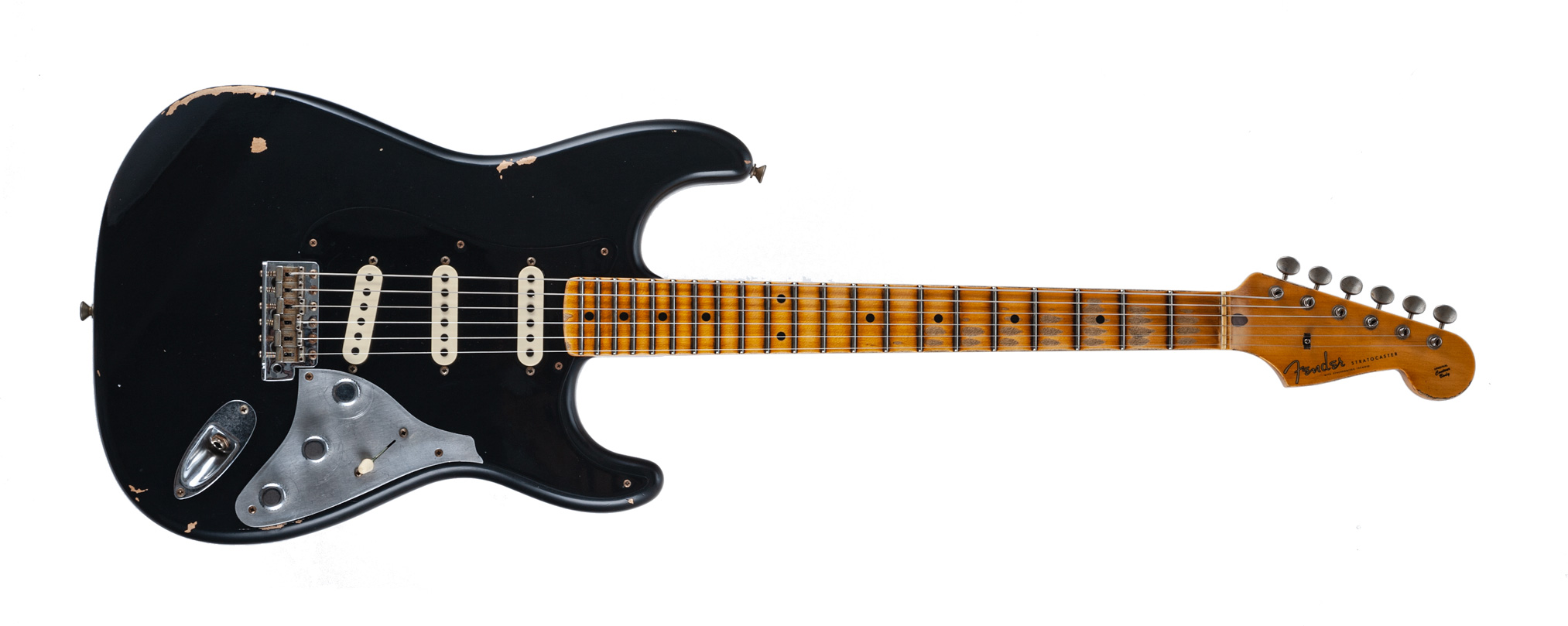 Fender Limited Edition Poblano II Stratocaster® Relic® Maple Fingerboard Aged Black