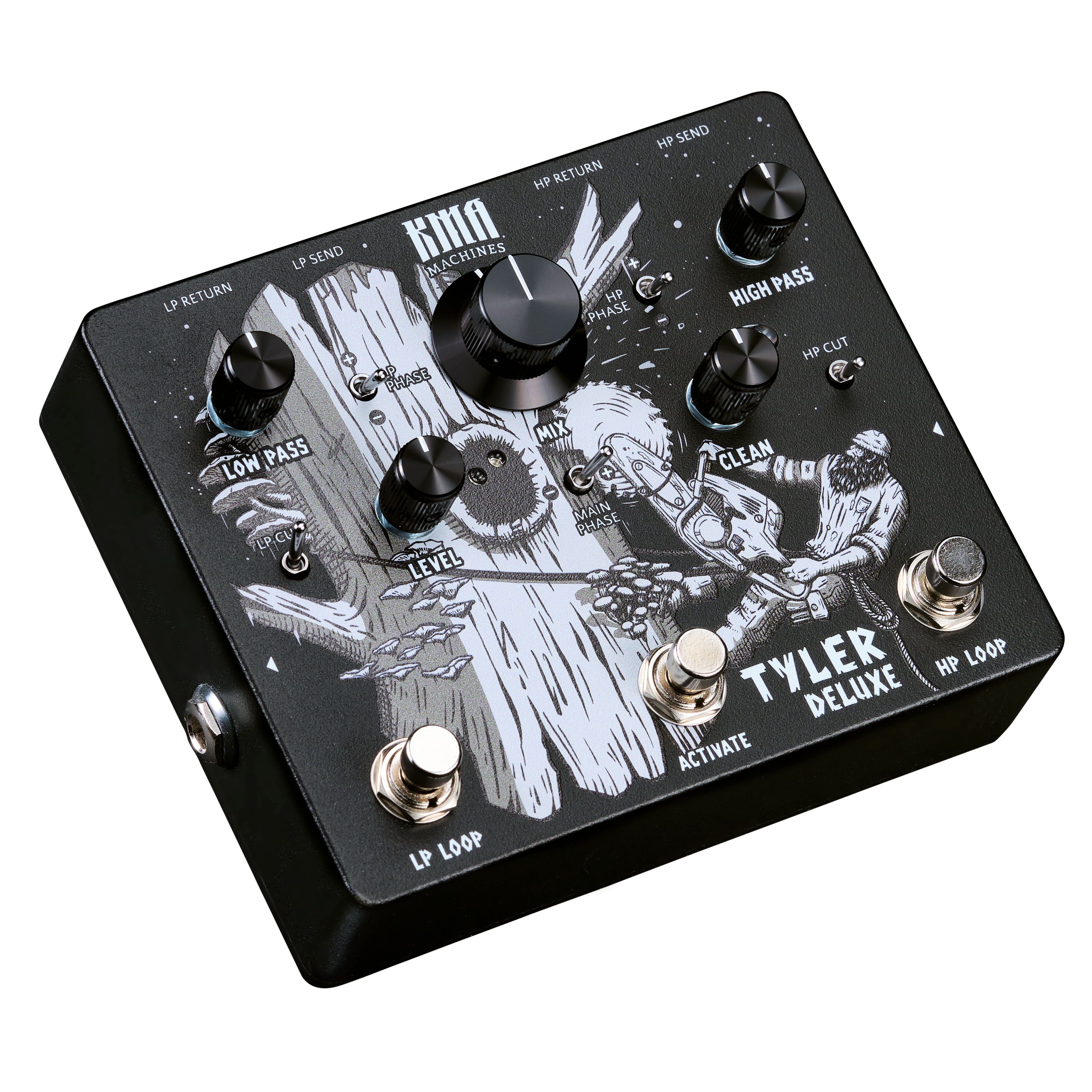 KMA Audio Machines Tyler DELUXE Two Channel Signal Splitter Pedal with Clean Blend and Phase Inversion