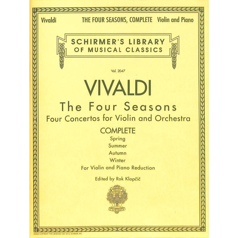 BX MS Vivaldi The Four Seasons Schirners Libr