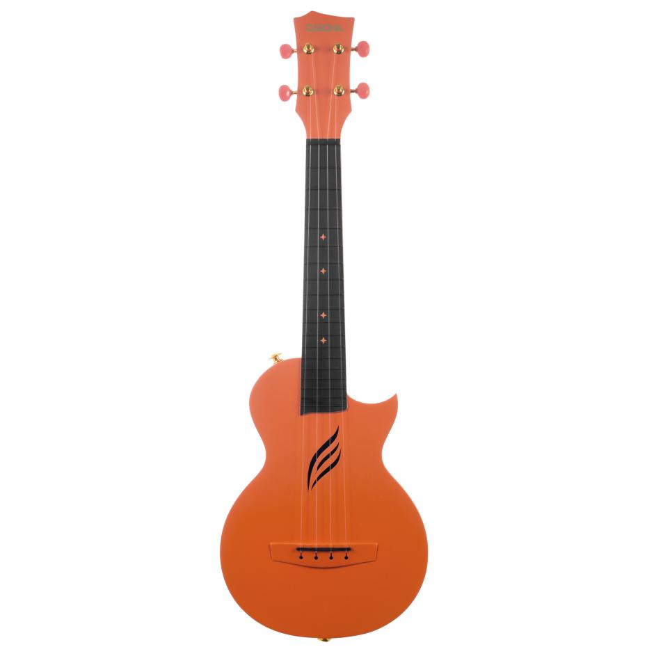 Cascha Ukulele Carbon Orange Ukulele Set