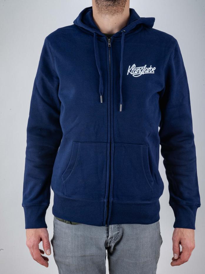 Klangfarbe Zip-Hoodie Navy Blue S