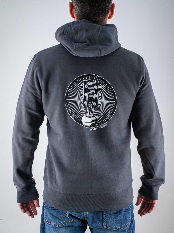 Klangfarbe Zip-Hoodie Asphalt Grey M
