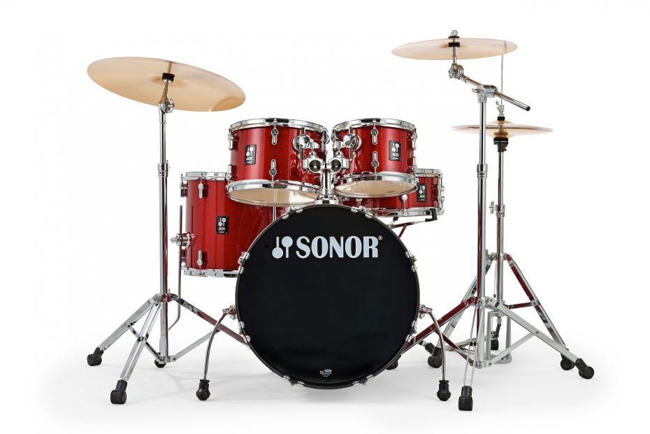 Sonor AQX Set Studio Komplettset Red Moon Sparkle