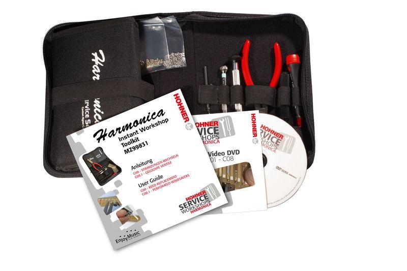 Hohner Service Set für Mundharmonikas mit DVD - HOMZ99832