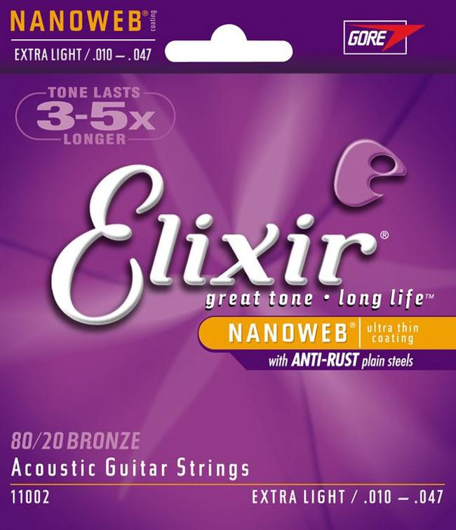 Elixir 11002 10-47 80/20 Bronze - NANOWEB®