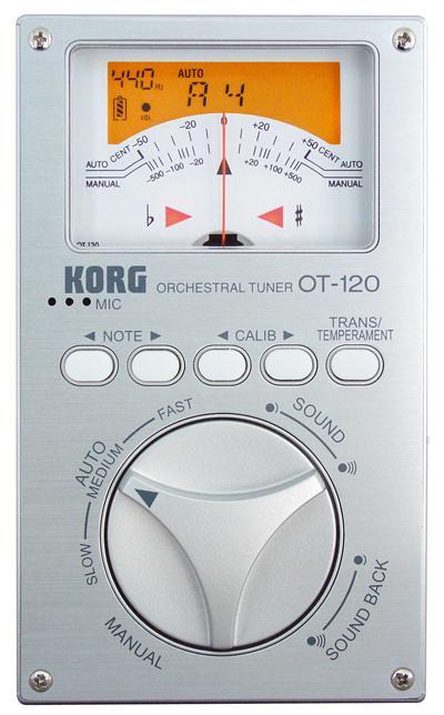Korg OT-120 Orchestral Tuner, Stimmgerät