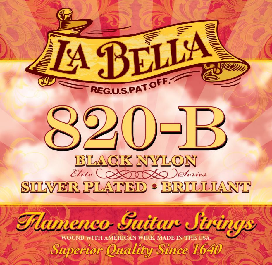 La Bella 653917 820B Saite Set Flamenco black