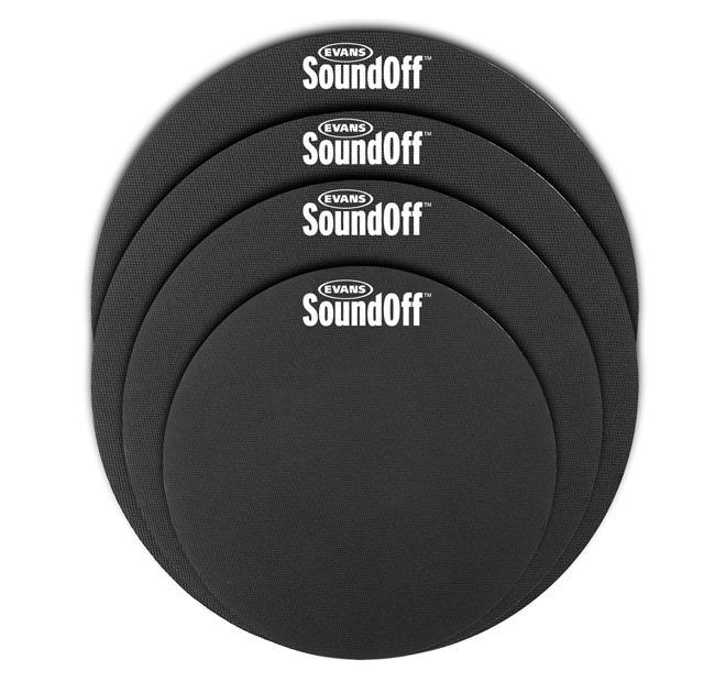 Evans Übungsgummi Sound Off Set 10,12,14,14