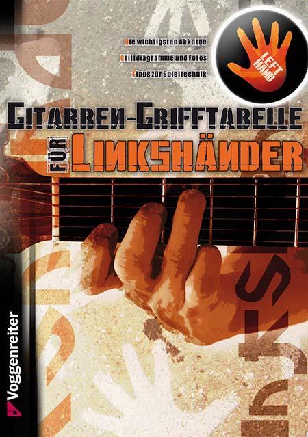 Grifftabelle Gitarre für Linkshänder