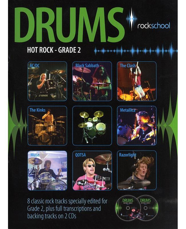 Rockschool Drums Hot Rock Grade 2, Buch