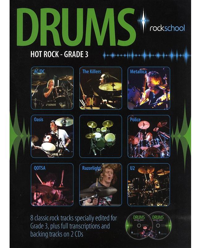 Book Rockschool Drums Hot Rock Grade 3, Buch