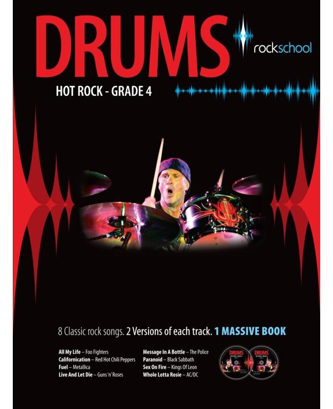 Rockschool Drums Hot Rock Grade 4, Buch