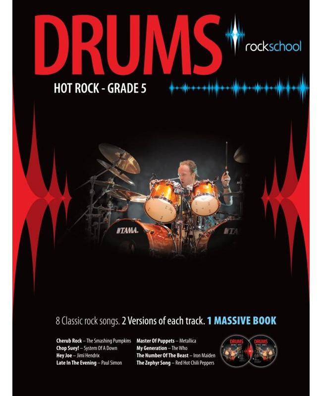 Rockschool Drums Hot Rock Grade 5, Buch