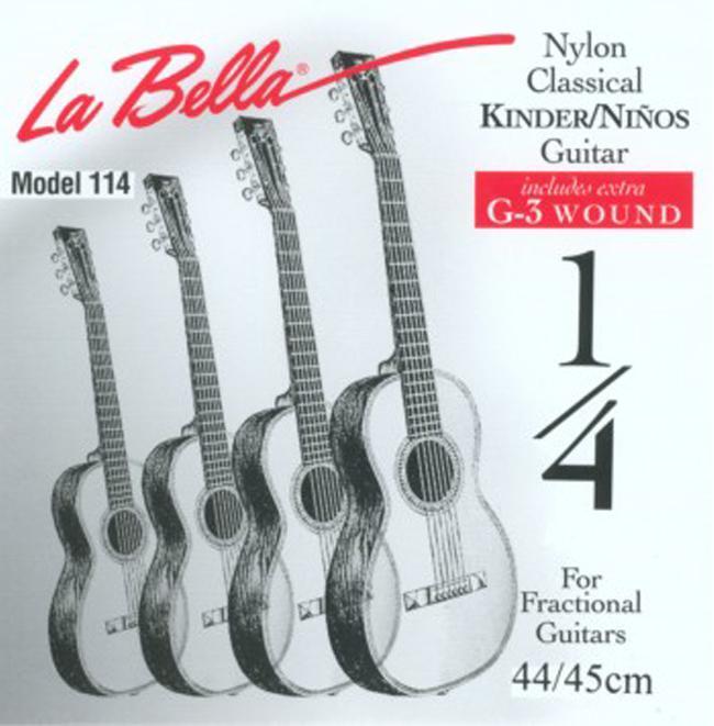 La Bella FG 114 Set 1/4, Saitenset für Konzertgitarren