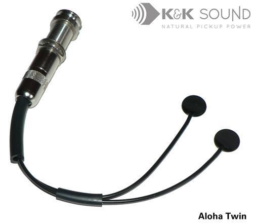K&K Sound Aloha Twin intern Ukulele Piezo PU