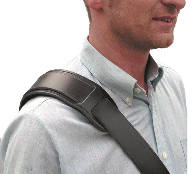 Lefima Schulterpolster für 30-40mm Riemen weiß