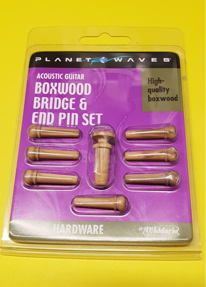 Planet Waves Boxwood Bridge & End Pins - Turquoise