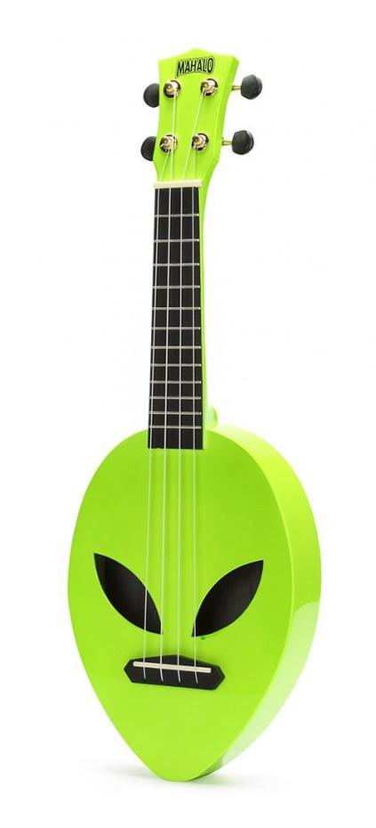Mahalo MC 1 AL ALIEN neon green Ukul Sopran +