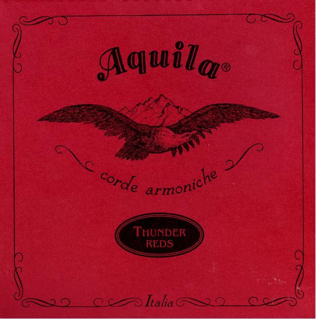 Aquila Ukulele-Bass Strings 91U Thunder reds