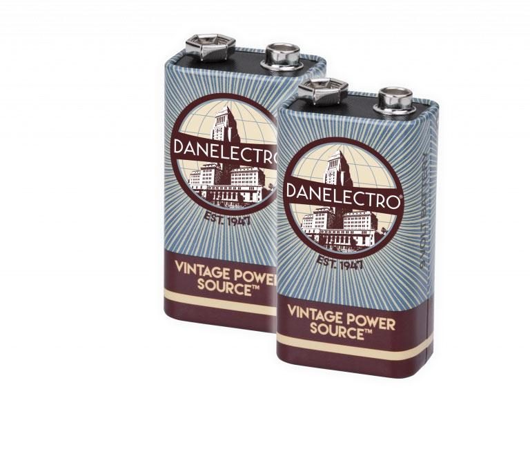Danelectro 1960s 9V Vintage Batterie 2er-Pack