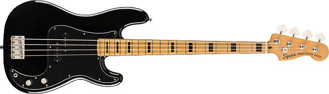 Fender Squier Classic Vibe 70s Precision Bass Maple Fingerboard Black