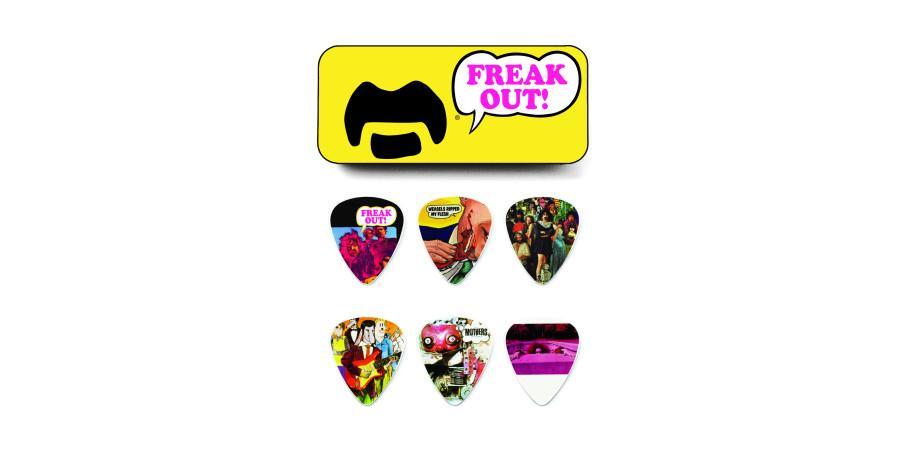 Dunlop Frank Zappa Yellow Pick Tin 6 Picks assorted motives medium
