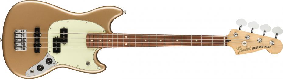 Fender Player Mustang® Bass PJ Pau Ferro Fingerboard Firemist Gold