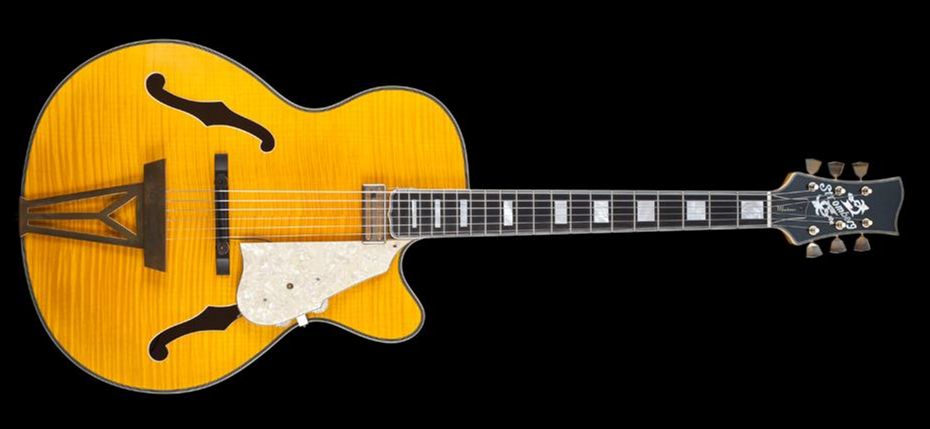 Stromberg Montreux Trans Honey Flame Maple Top