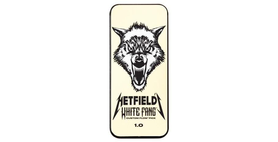 Dunlop Hetfield?s White Fang Custom Flow Pick Tin 6Stk white 1.00mm