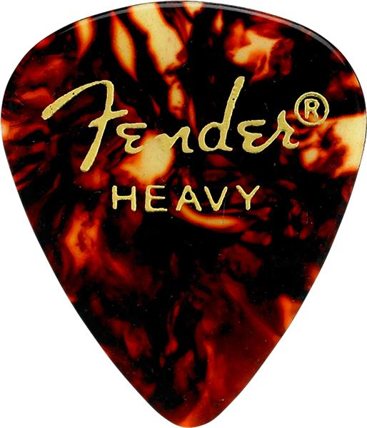 Fender Plektren Tortoise Shell 351 Shape Heavy 12Stk