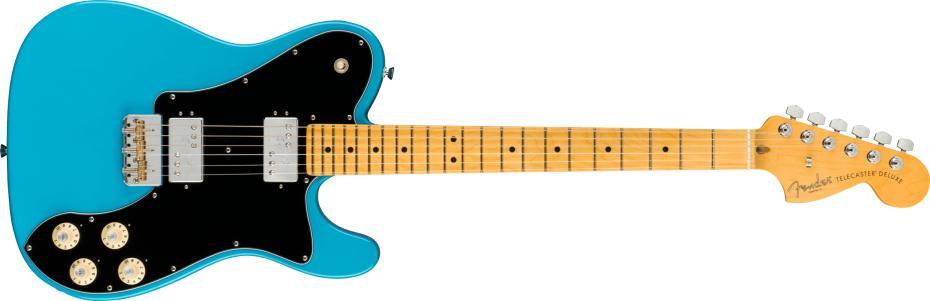 Fender American Professional II Telecaster® Deluxe Maple Fingerboard Miami Blue