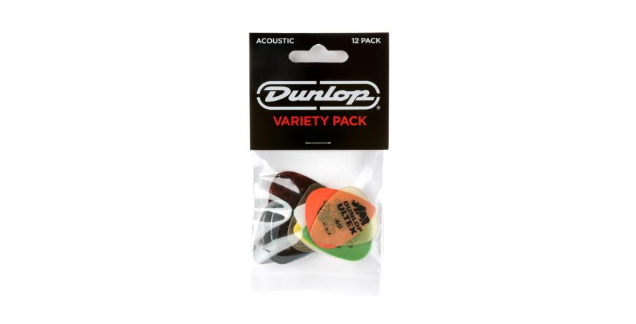 Dunlop Acoustic Pick Variety Player?s Pack 12 assorted picks