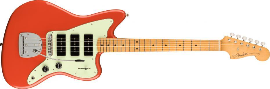 Fender Noventa Jazzmaster® Maple Fingerboard Fiesta Red
