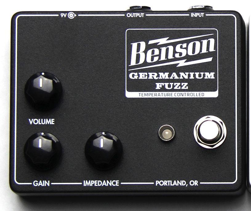 Benson Germanium Fuzz Temperature Controlled Black