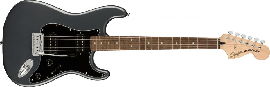 Squier Affinity Series™ Stratocaster® HH Laurel Fingerboard Charcoal Frost Metallic