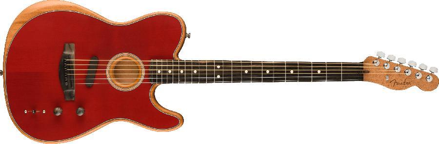Fender American Acoustasonic® Telecaster® Ebony Fingerboard Crimson Red