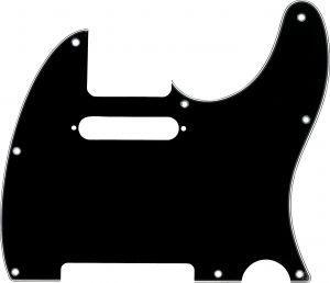 Fender Pickguard Telecaster 8-Hole Black/White/Black 3-Ply