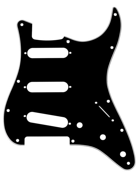 Fender Pickguard Stratocaster S/S/S 11-Hole Mount B/W/B 3-Ply