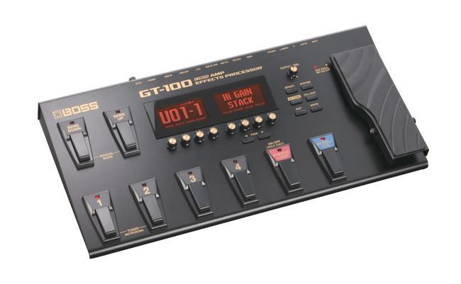 Boss GT-100 Multieffekt und Amp-Modeling