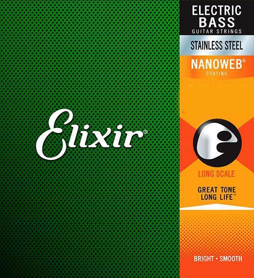 Elixir NanoWeb 14677 Medium Stainless Bass 45-105